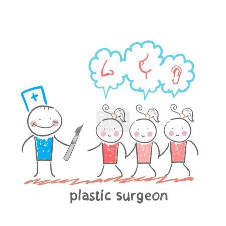 Plastic surgeon patients
