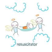 Resuscitator carry on patient
