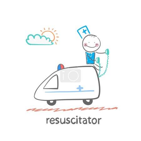 resuscitator rides in the ambulance