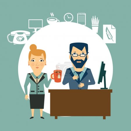 Secretary and boss coffee