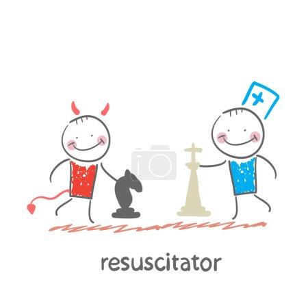 Resuscitator plays chess