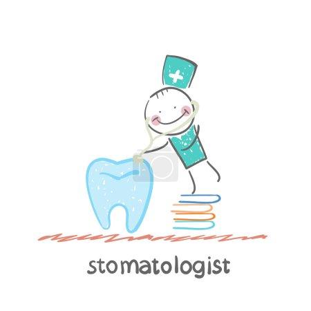 Stomatologist with  books
