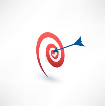 Target and arrow icon.