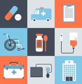 Icons ambulance illustration