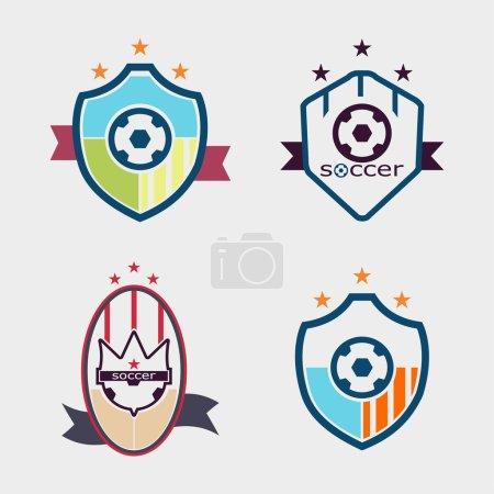 Set of soccer football crests