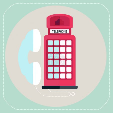Red telephone box icon
