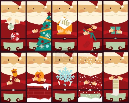 Set  with Santa Clauses