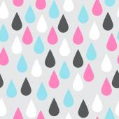 Colorful drops seamless vector pattern Pink blue black and wh
