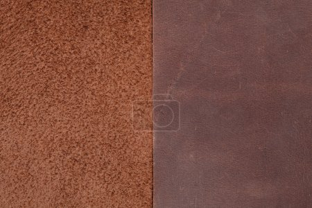 Two pieces of brown leather