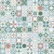 Seamless pattern illustration in traditional style...