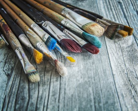 Collection of artist paintbrushes