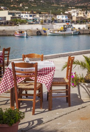 Seaside restaurant Crete