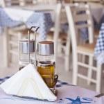 Detail image of a traditional greek taverna restau...