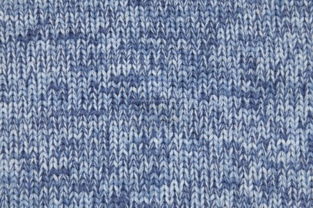 Knitted blue fabric
