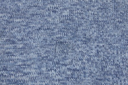 Blue knitted material