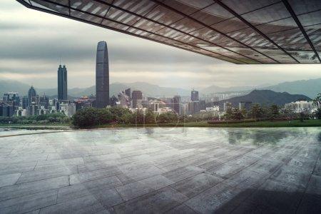 Floor platform and the modern construction background