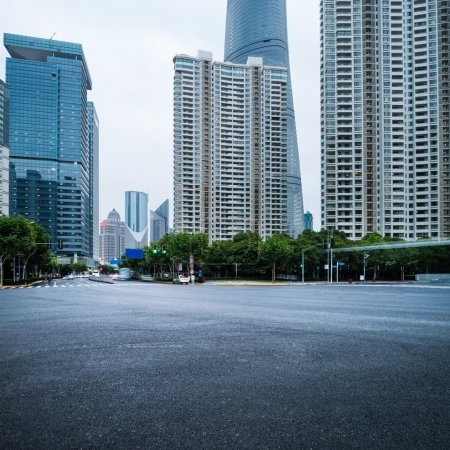 Photo for The century avenue of street scene in shanghai Lujiazui,China - Royalty Free Image