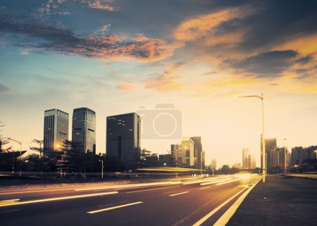 Photo for Urban road in the evening - Royalty Free Image