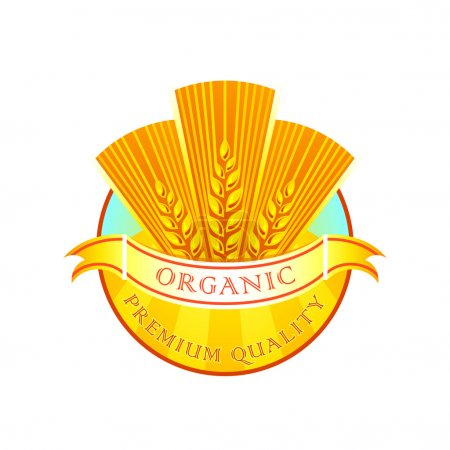 Organic flour label