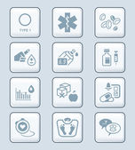Diabetes icons - TECH series