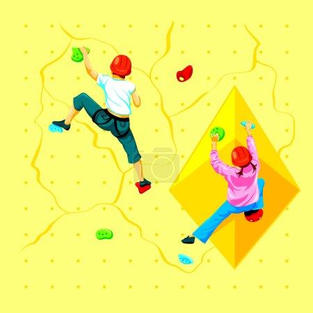 Wall climbing kids