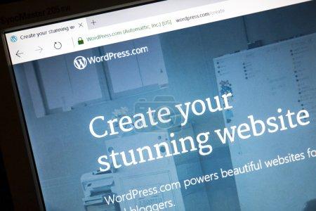 WordPress-Website auf einem Computerbildschirm