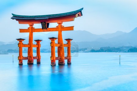Photo for Miyajima, The  famous Floating Torii gate, Japan. - Royalty Free Image