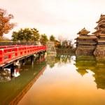 The Matsumoto Castle in Autumn, Nagano prefecture,...