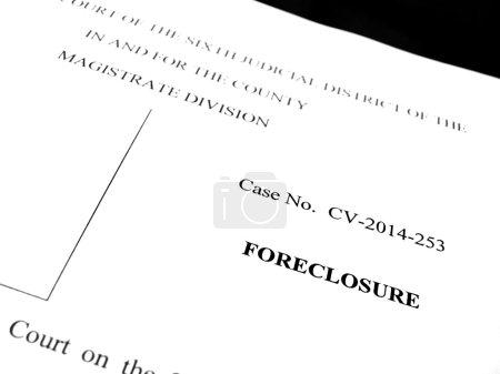 Legal Lawsuit Foreclosure
