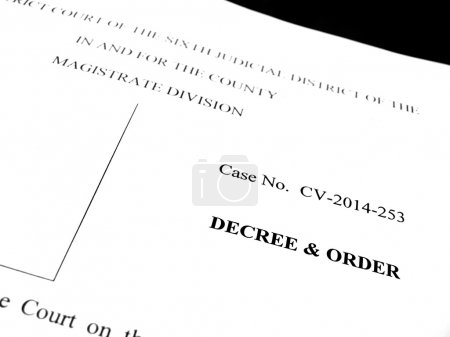 Legal Papers Decree and Order
