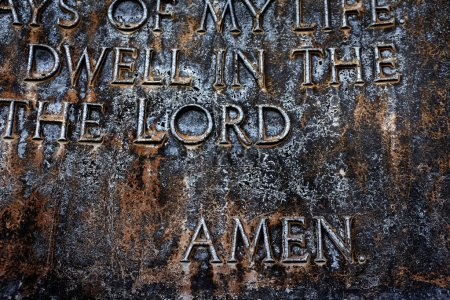 Sculpture of the Lord's Prayer Psalm 23