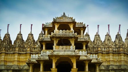 Photo for Front entrance to Ranakpur Jain temple, Rajasthan, India - Royalty Free Image