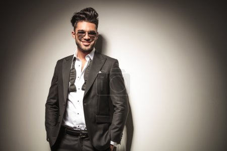 Attractive young elegant business man smiling
