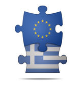 puzzle pieces europe and greece