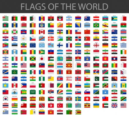 World flags vector...