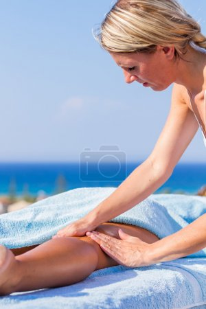 Chiropractic massage therapy woman