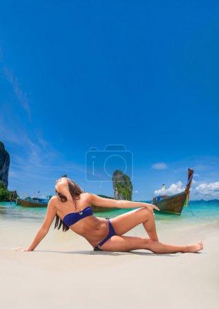 asian girl at the beach