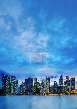 Singapore financial district skyline