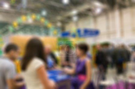 Foto de Genéricos de comercio Mostrar imagen con desenfoque borroso - concepto de las grandes empresas sociales reunión para intercambio de encuentro internacional - Imagen libre de derechos
