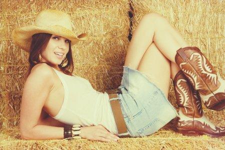 Pretty Smiling Cowgirl