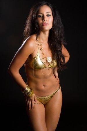 Latin American Woman in Bikini