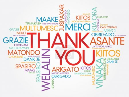 Illustration for Thank You Word Cloud - Royalty Free Image