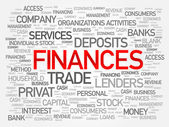 Finances word cloud business concept