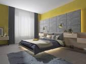 interior bedroom teenager bed