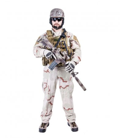 Bearded special warfare operator
