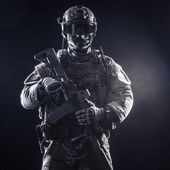 "Постер, картина, фотообои ""солдат спецназа"""