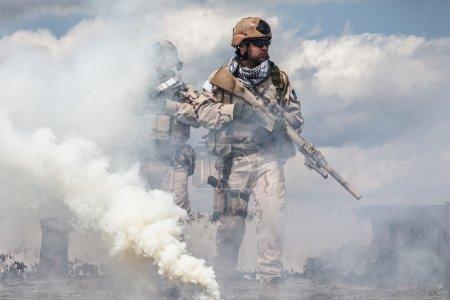 Navy SEALs in action