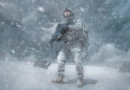 Airborne trooper winterstorm