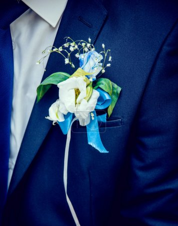 Wedding bouquet. Groom.