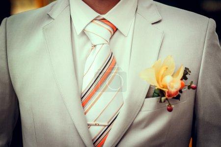 Wedding bouquet. Groom